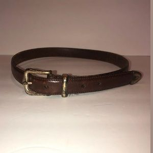 Fossil size small brown leather belt